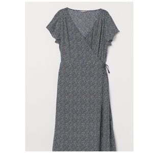 NET H&M Calf-Length Wrap Dress
